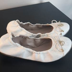 Juicy Couture Women's White Logo Ballet Flats Sz 6